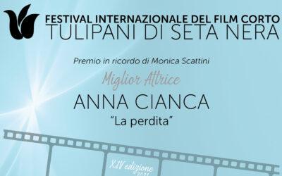 """Anna Cianca è la """"Miglior Attrice"""" del Festival Tulipani di Seta Nera"""