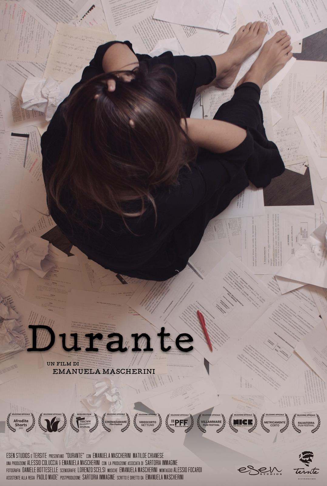 """Locandina del film cortometraggio """"Durante"""" di Emanuela Mascherini"""
