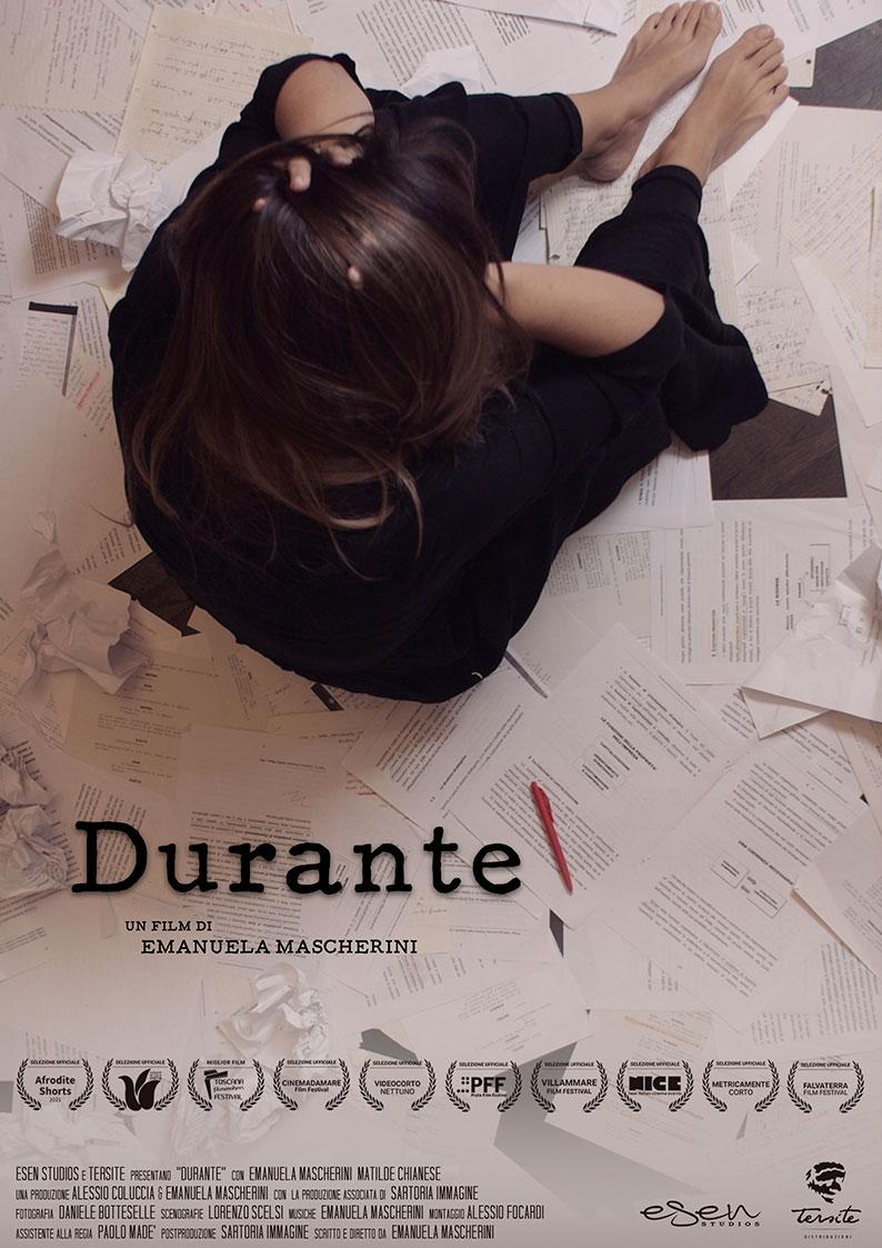Poster Durante, film di Emanuela Mascherini nella sezione della distribuzione cortometraggi